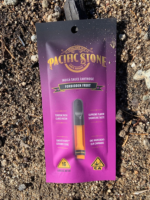 Forbidden Fruit Indica 1g Cartridge by Pacific Stone (72.72%)