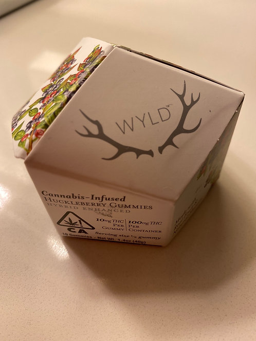 100 mg Huckleberry 2:1 Gummies by WYLD