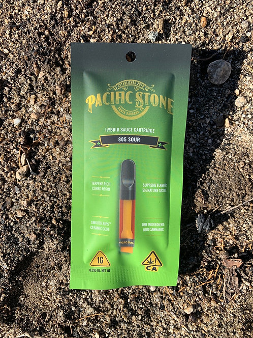 805 Sour 1g Hybrid Cartridge by Pacific Stone (72.39%)