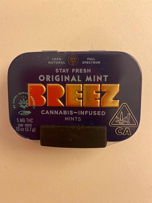 100 mg Mints by Breez (5 mg per mint) Original