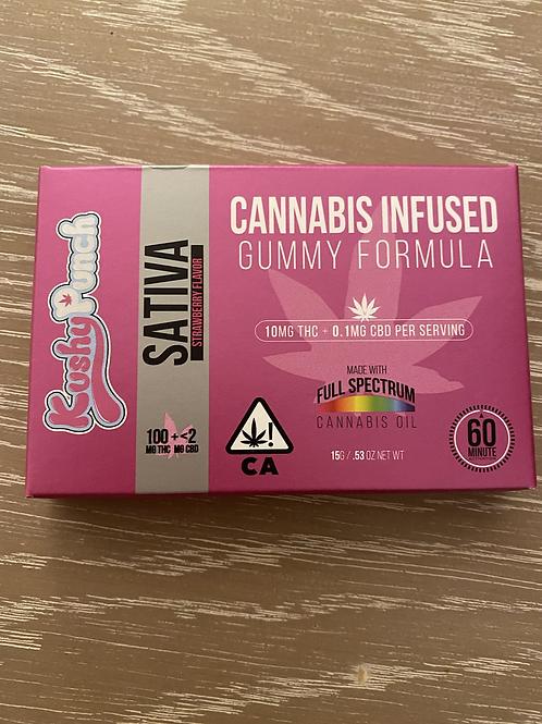 100 mg Sativa Strawberry Gummies