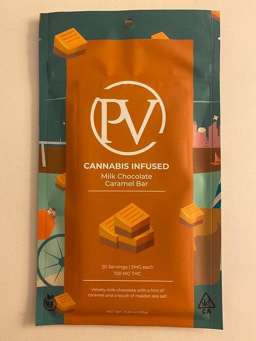 100 mg Milk Chocolate Caramel Bar by PV