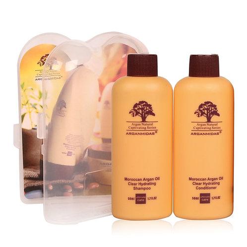 Argan Oil Conditioner & Shampoo, Travel Kit