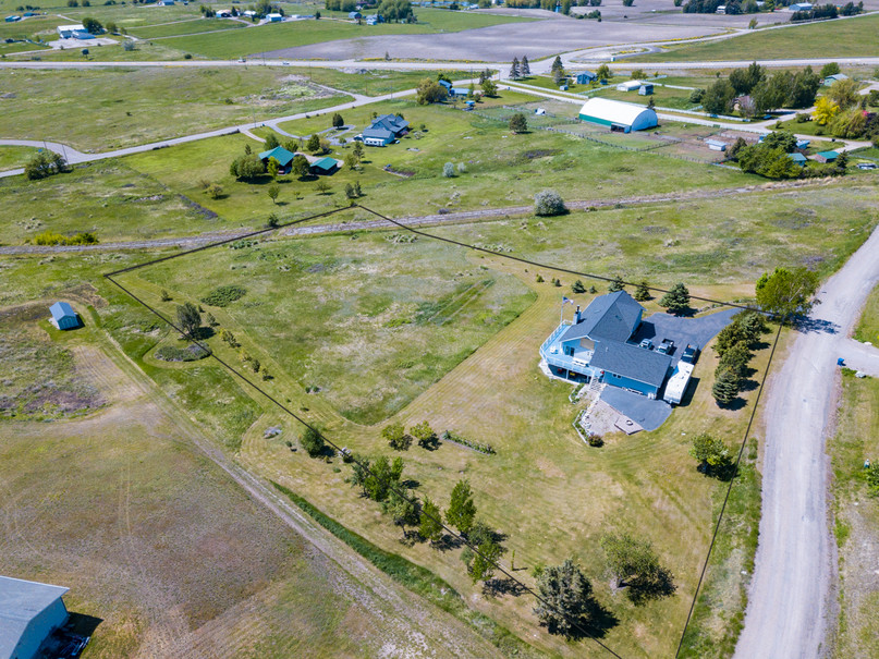 Property From Above With Property Lines
