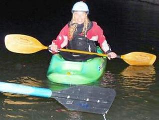 Night kayaking on the Upper Colorado