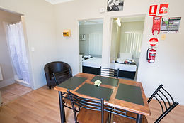 Self contained accommodation in darwin in our two bedroom cabins. Kitchen facilities and private bathrooms are all in the budget. Self contained cabin in Darwin. Cheap home away from home in the Leprechaun Resort. Hotels in Darwin