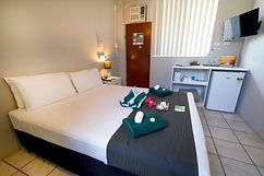 Our value for money compact rooms in darwin's newest resort are perfect for a stop over from the airport.Self contained cabin in Darwin. Cheap home away from home in the Leprechaun Resort.