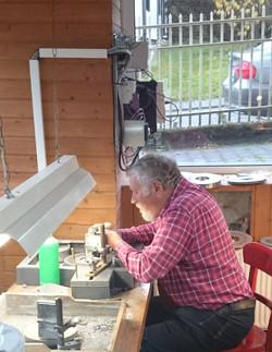 Wilfried Stumm bei der Arbeit