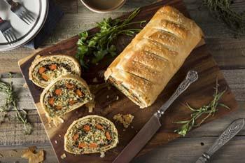 vegan catering san diego mushroom wellington