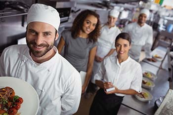 corporate catering chef and staff
