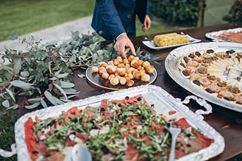 wedding catering presentation san diego