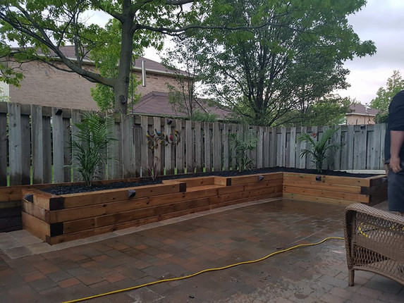 newly installed raised garden bed ontari