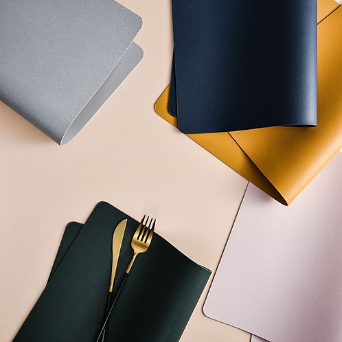 2 x Nordic Placemat (High Quality PU Leather)