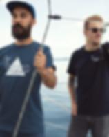 Homme, t-shirt homme, imprimé, broderie, baleine, coton biologique, casquette, barbe, lac, ocean, bateau, voilier