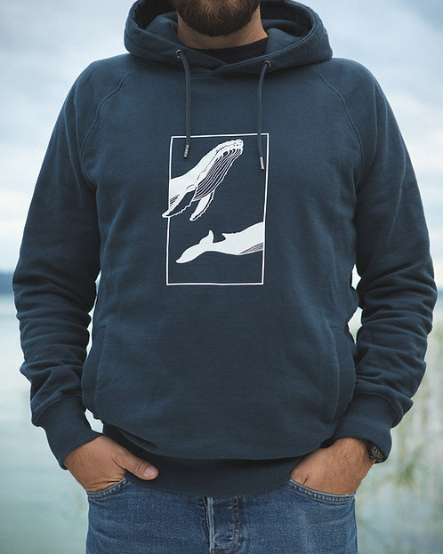 "Sweatshirt ""Whale"" Denim (Unisex)"