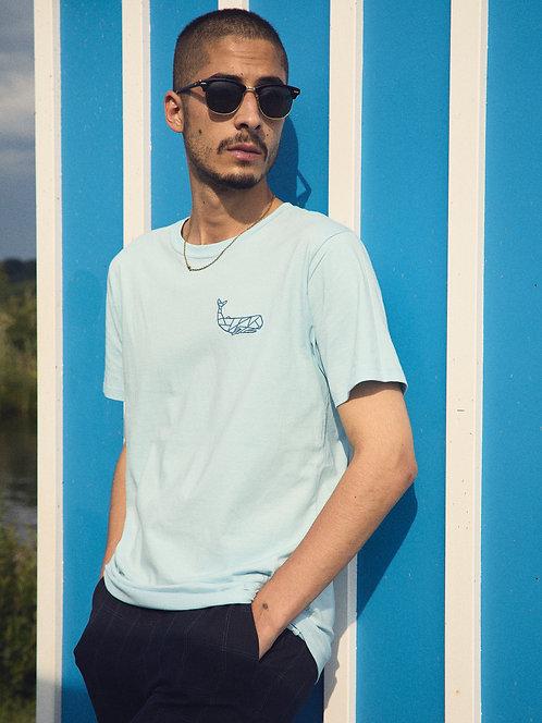 Klassisches Aquamarin-T-Shir