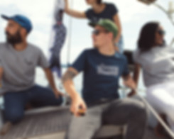 T-shirt, coton biologique, bateau, casquette, baleine, groupe, soleil, été, t-shirt imprimé, t-shirt brodé