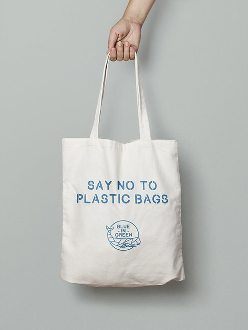 Tote bag, say no to plastic, whale, sustainable product, organic cotton, recycling cotton, recycling polyester