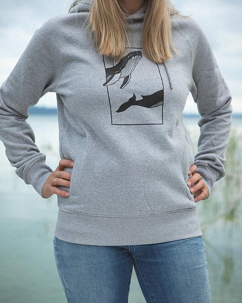 """Sweatshirt """"Whale""""Grey"""