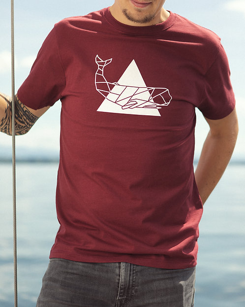 "T-shirt ""Triangle"" Bourgogne"