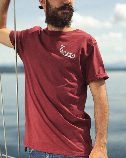 Klassisches Burgundy T-Shirt