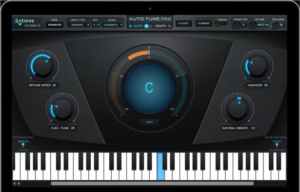 The interface of Auto-Tune Pro