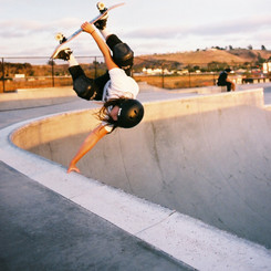 Invert to fakie at sunset