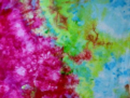 ICE DYED FABRIC EXPERIMENT EXCITING!