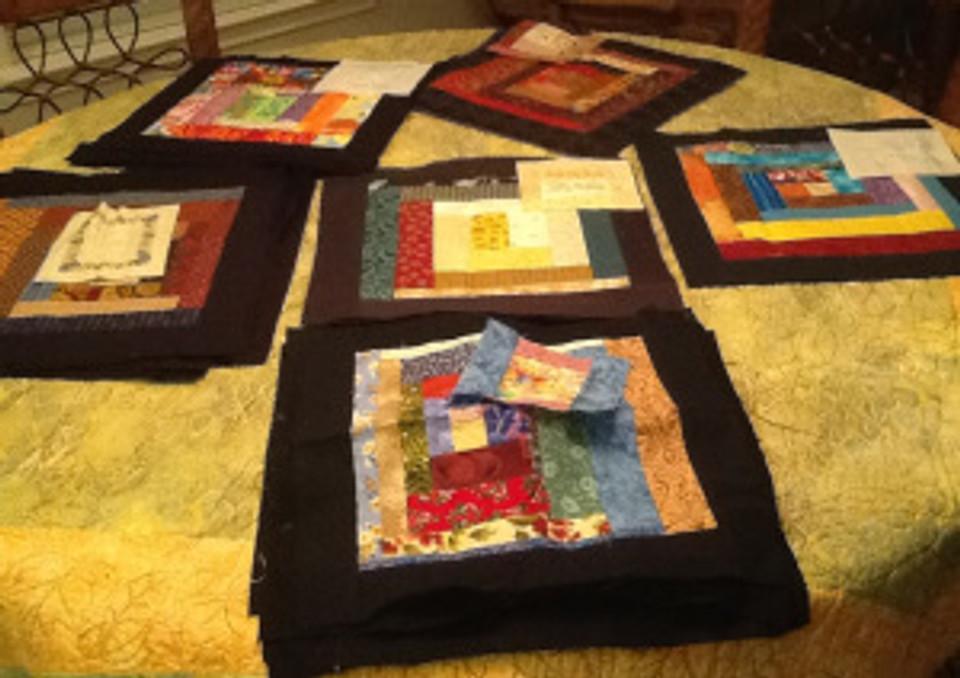 Sandy quilt blocks