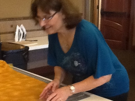 Barbara W cutting away