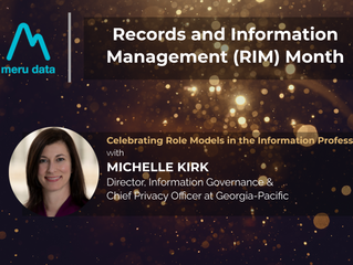 Records and Information Management (RIM) Month - Celebrating Michelle Kirk