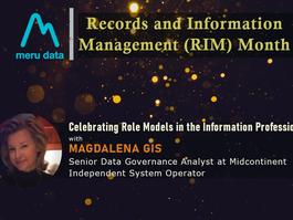 Records and Information Management (RIM) Month - Celebrating Magdalena Gis