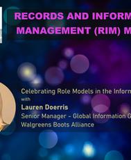 Records and Information Management (RIM) Month - Celebrating Lauren Doerries