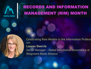 Records and Information Management (RIM) Month - Celebrating Lauren Doerries