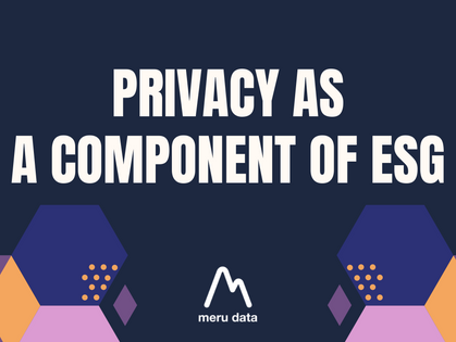 Privacy as a Component of ESG