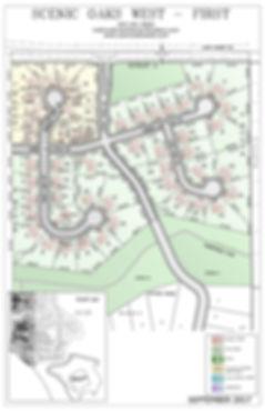 Lot dimensions in Scenic Oaks West