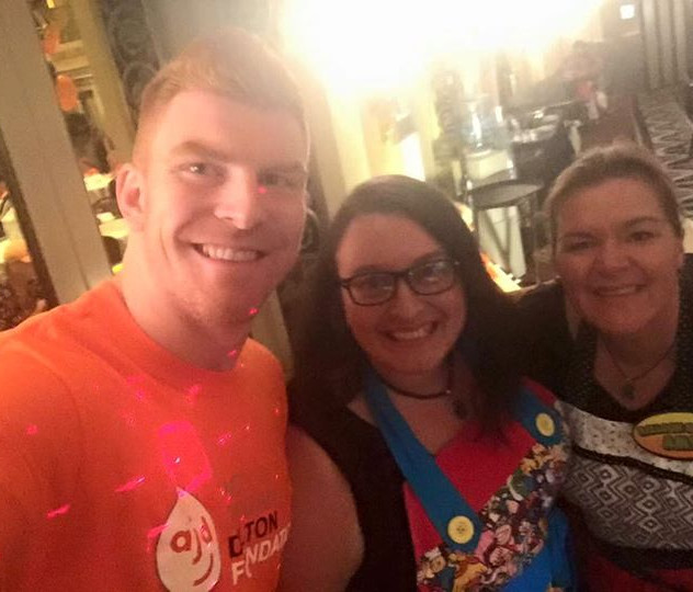Andy Dalton with Eva and Amy
