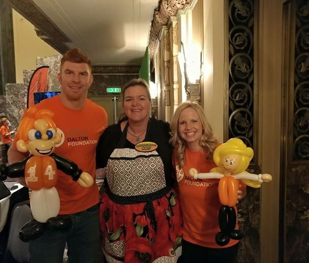 Andy and Jordan Dalton with Amy
