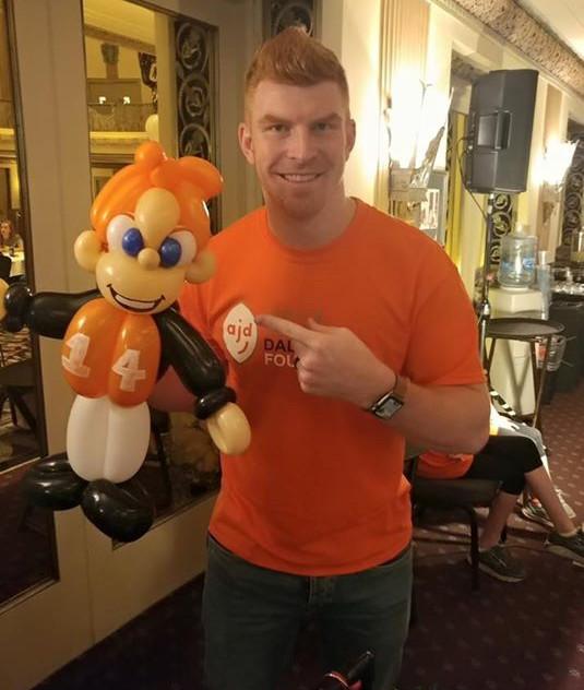 Andy Dalton with Andy Dalton Balloon