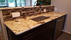 Sink with backsplash