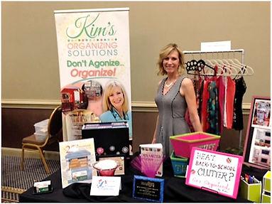 Kim at a vendor show