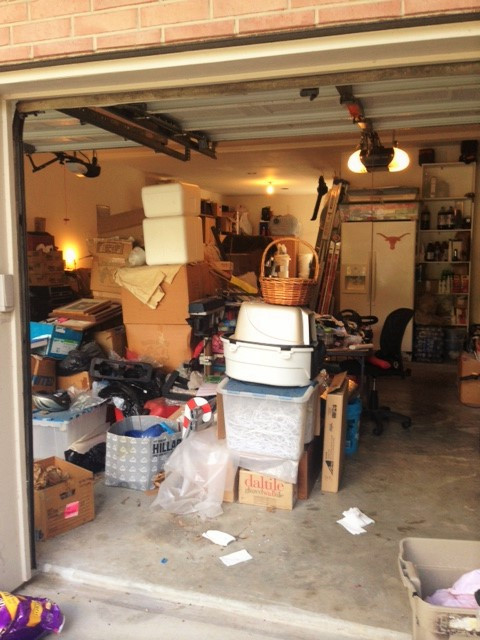 "15 years of stuff sitting in a garage. It's time to ""let go""!"