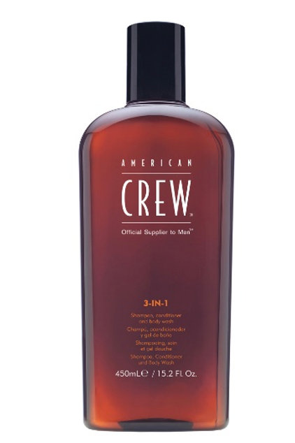 Crew 3 in 1 Shampoo, Conditioner, Bodywash