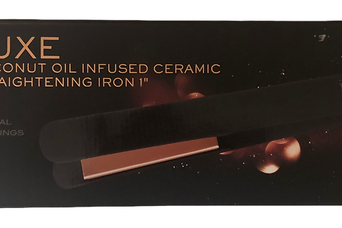 Ion Luxe Coconut oil infused Ceramic Straightening Iron 1""
