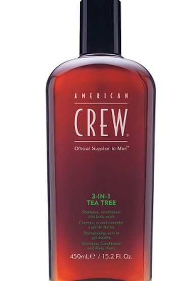 Crew 3-1 Tea Tree Shampoo, Conditioner, Bodywash