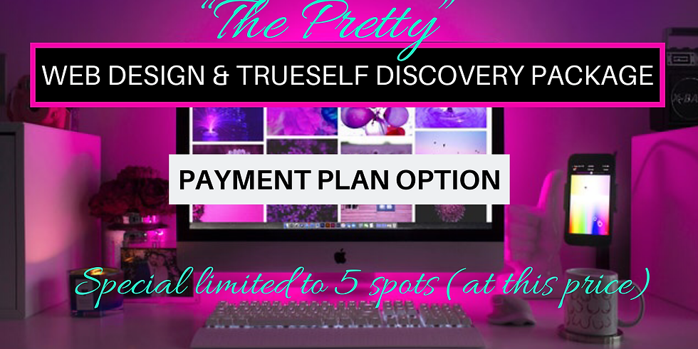 """PAYMENT PLAN DEPOSIT OPTION """"The Pretty"""" Web Design Package"""