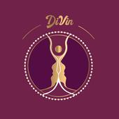 """Logo """"Divin"""" pour Vincent Berthet,  ostéofluidique négoce de vin."""