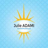 Logo pour Julie Adamie, ostéofluidique