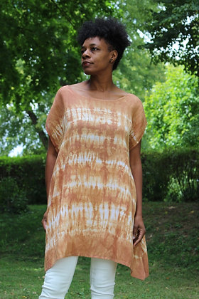 Hand-dyed Linen Boatneck Tunic