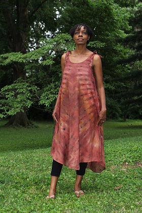 Hand-dyed Brown Mix Tank Dress